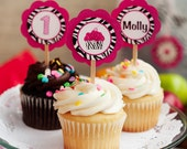 Zebra CUPCAKE TOPPERS - Pink Zebra Decorations