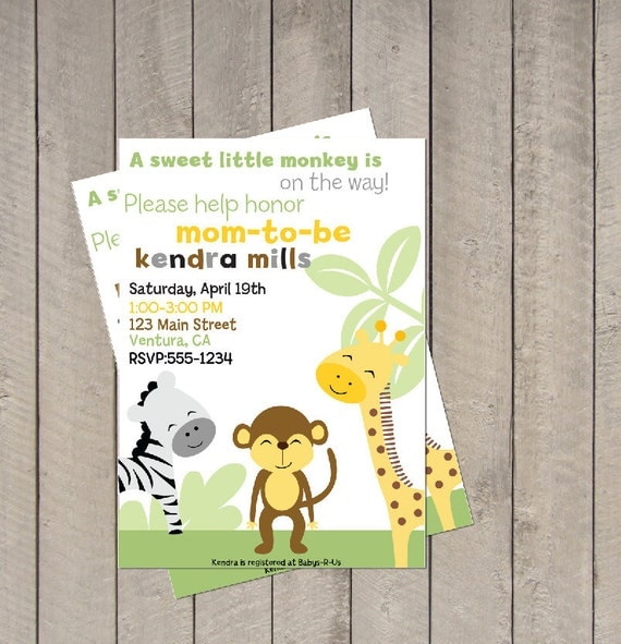 Items Similar To King Of The Jungle Baby Shower Invitation
