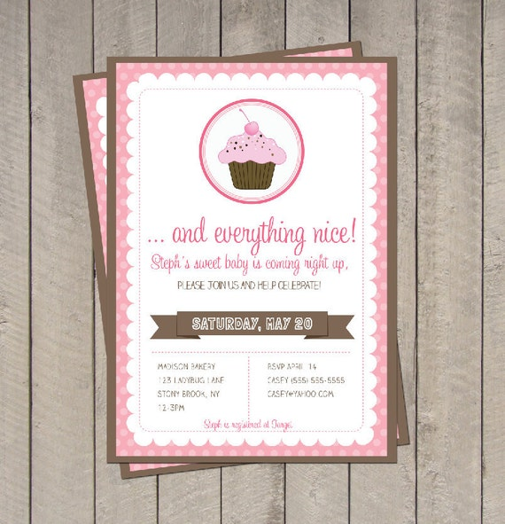 Sugar And Spice Baby Shower Invitations for your inspiration to make invitation template look beautiful