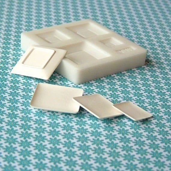 Flexible Square Plate Mold For light weight clay (Air dry clay, Resin, Fimo, TLS, Paper, Sculpey III, and Premo)