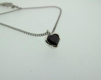 Dark Desire Black Sapphire Heart
