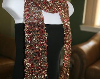ribbon scarf handmade handknit trellis scarves metallic gold red black multicolor gift idea for women girls birthday christmas teacher's day