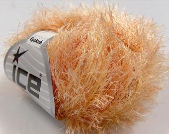 orange yellow shades eyelash yarn bulky chunky 50gr polyester ice yarns usa craft rug 1 skein ships from usa at usps cost 14925