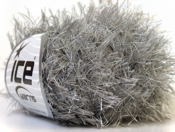 Eyelash Yarn : grey eyelash yarn bulky chunky 50gr polyester ice yarns usa gray ...