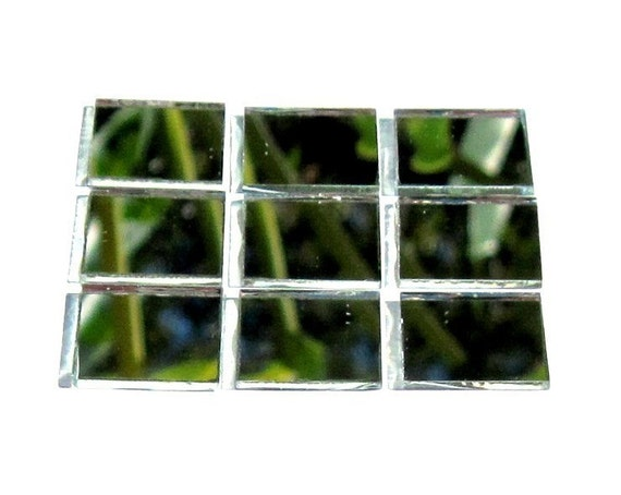 Mosaic Mirror Tiles - perfect square mirrored craft tiles - 35 pieces - 3/4inch