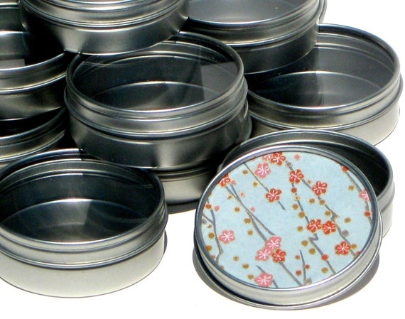 20 Premium Blank Round Gift Tins - Ready To Decorate - High Quality Clear Window Lid - perfect for jewelry packaging