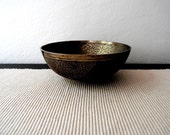 Vintage Finely Etched Heavy Dish (FEATURED on the FRONT PAGE of Etsy)