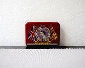 Queen Elizabeth II Coronation Commemorative English Souvenir Tin Box 1953