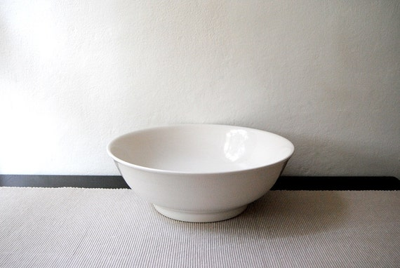 Large Simple White Italian Bowl