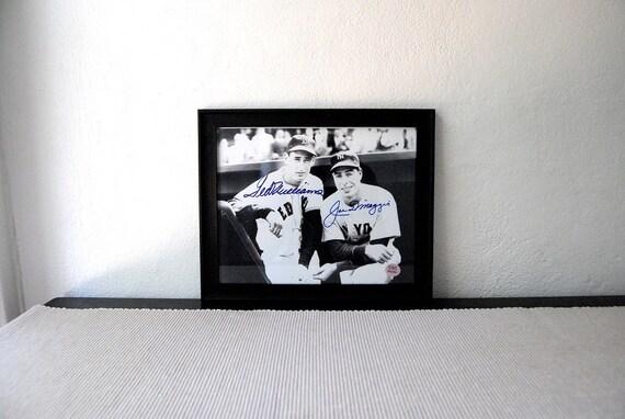 Baseball Legends Williams Boston DiMaggio New York Autographs With Certificate