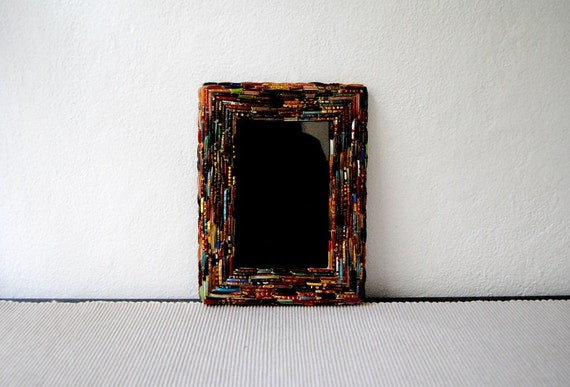 Handmade Glass Bead Picture Frame