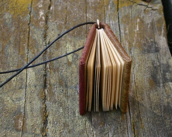 Antonovka  - miniature book necklace