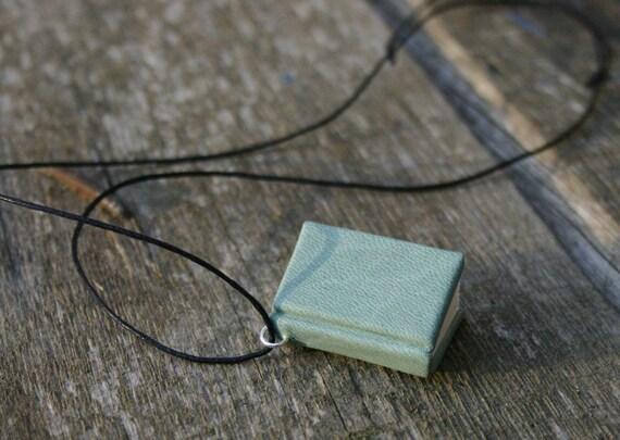 Fifties mint - miniature book necklace