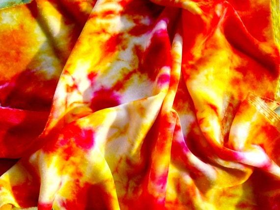 Bold and Bright Hot Pink Lemonade Fabric Quarter in Silk Velvet