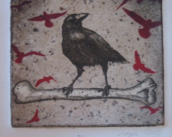 crow etching