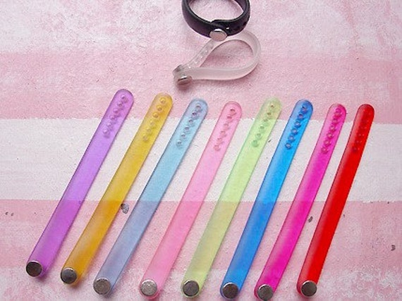 10 pcs. of  Adjustable Ring Straps \/ 10 colors