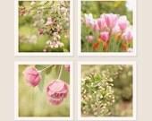 Spring (Set of four 5x5 Fine Art Photographs)