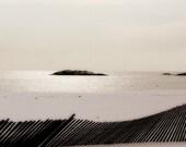 solitude a serene minimalist winter beach scene 5x5 fine art photograph