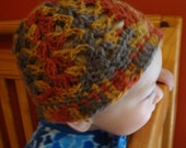 Crocheted Fall Baby Hat (12-24 Mo)