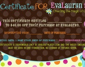 40 Dollar Gift Certificate for EvaLauryn - Wool Felt Food Play Accessories or anything else in my store