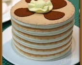 Wool Felt Play Food - Stack of 3 Pancakes - Waldorf Accessory for Imaginative Play