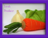 Wool Felt Playfood - Whole Carrot - Waldorf Inspired Accessory Sets for Imaginative Play
