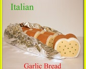 Wool Felt Playfood Italian Garlic Bread - Waldorf Inspired Felt Playfood Accessory for Imaginative Play