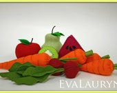 Wool Felt Play Food - Beets - Vegetables Fresh from the Garden