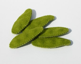Wool Felt Play Food - Sugar Snap Peas - Waldorf Inspired Pretend Kitchen Accessory for Imaginative Play