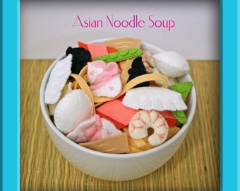 Natural Wool Felt Play Food - Asian Noodle Soup