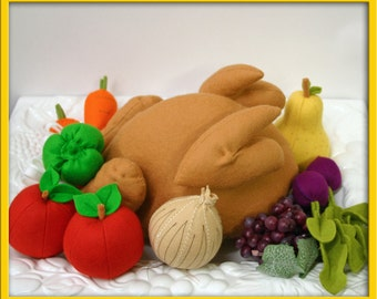 Wool Felt Play Food - Turkey for the Holidays