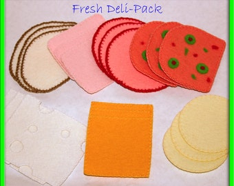Wool Felt Play Food - Deli Meat and Cheese for Sandwiches Tea Parties or Luncheons