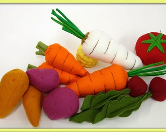 Wool Felt Play Food - Root Vegetables Fresh from the Garden