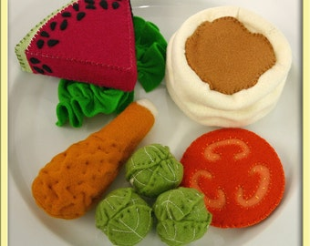Wool Felt Play Food - Brussel Sprouts - Waldorf Inspired Pretend Kitchen Accessory for Imaginative Play