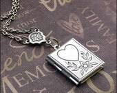 Heart Locket Necklace - Enchanted Sweetheart - Jewelry By TheEnchantedLocket - Best Friend Wedding Bride Christmas Anniversary Gift - SALE -