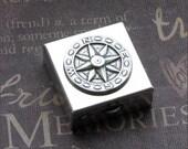 Silver Keepsake Box - Enchanted Compass Rose - By TheEnchantedLocket