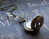 Brass Pocket Watch Necklace - Enchanted Royalty - By TheEnchantedLocket