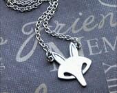 Silver Fox Necklace - Enchanted Petite Fox - By TheEnchantedLocket