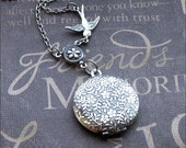 Silver Daisy Locket Necklace- Enchanted Innocence - Jewelry by TheEnchantedLocket - GIRLIE Daughter's First Locket Teacher Anniversary Gift