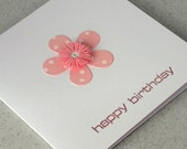 Birthday card, quilled, paper quilling, handmade