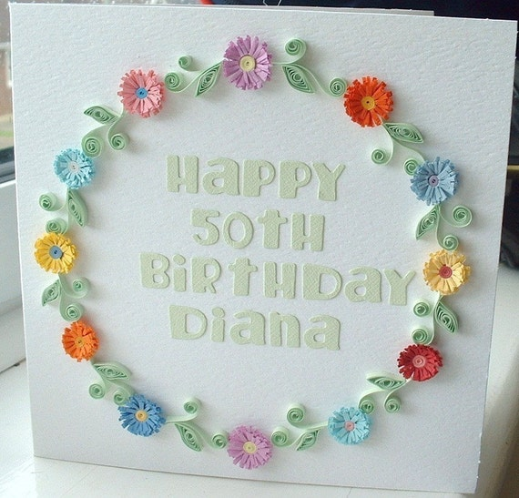 Items Similar To Handmade Birthday Card, Paper Quilling