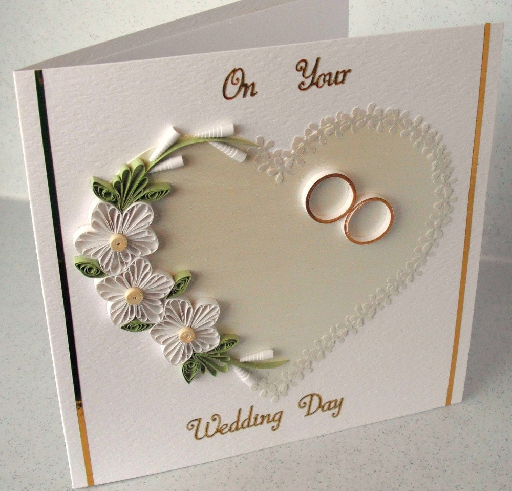 Quilled Wedding Congratulations Card