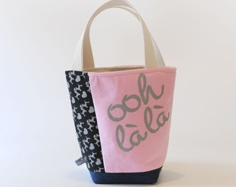Mini Tote, Ooh La La in Pink and Black