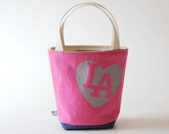 Mini Tote, I love LA Hot Pink