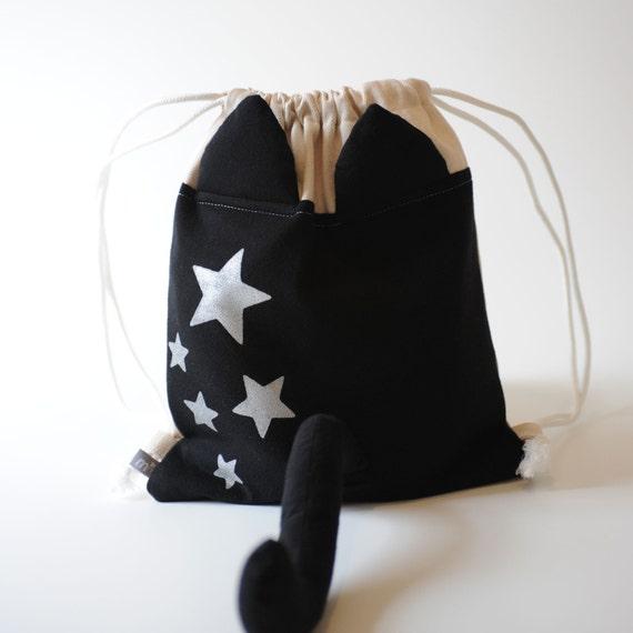Dress Up Cat Drawstring Backpack