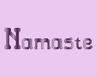Namaste Cross Stitch Pattern PDF Digital Download