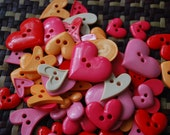 Mixed Heart Button - Peach tone - 30 buttons Only 3.45 USD