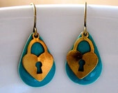 Love Lockdown Earrings / turquoise