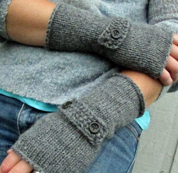 knit fingerless sleeve gloves-Pick Your by thebeachcomberstudio