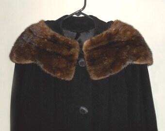 Vintage Women's Coat, Black Coat, Vintage Mink, Vintage Winter Coat, Women's Coat, 50s Clothing by NewYorkMarketplace on Etsy